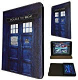 Doctor Who Tardis Police Call Box Case Design Fashion Trend TPU Leather Flip 3D Case For All Apple iPad Mini 1 & ipad mini 2 Retina / Ipad 2 3 & 4 / ipad air 1 2013/ ipad Air 2 2014 Full Case Flip Leather Purse Pouch Defender Stand Cover - Choose your ipad model from the drop box under (iPad Mini 1 & ipad mini 2 Retina)