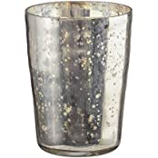 Amber Home Goods Champagne Collection Antique Silver Tumbler Candle Holder
