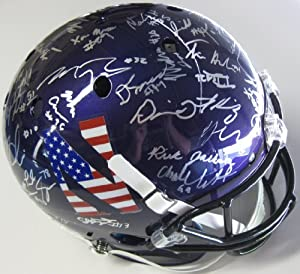 2013, Northwestern Wildcats, Team, Signed, Autographed, Schutt Full Size Helmet, a... by Coast+to+Coast+Collectibles