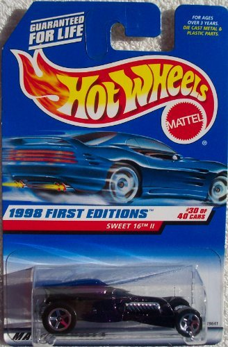 1998 - Mattel / Hot Wheels - Sweet 16 II (Deep Purple & Chrome) - 1998 First Editions #30 of 40 Cars - MOC - Out of Production - Limited Edition - Collectible - 1