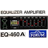 FORUM EQ-460A CAR EQUALIZER AMPLIFIER 7-BAND 200 Watt PEAK Power Sound Speaker Amplifier with Equalizer Stereo Audio