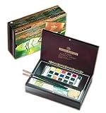 ラウニー 専門家用固形水彩絵具セット 水彩17色木箱セット AWC-17WB