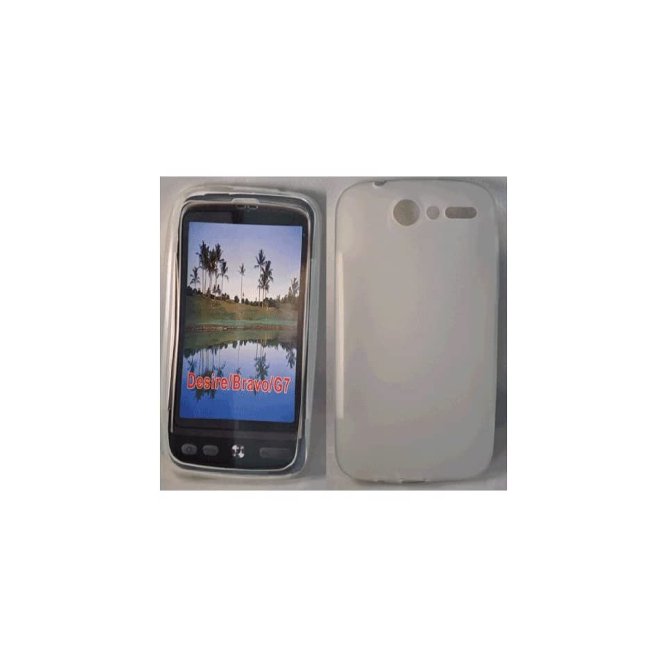 White Gel case cover pouch holster for htc desire G7 Electronics