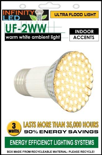Infinity Ultra Flood Light Bulb - Warm White, 3W