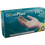 Ammex IV GlovePlus Vinyl Glove, Latex Free, Disposable, Powdered