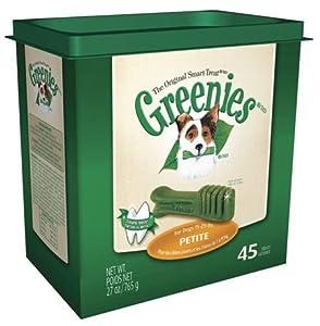 Greenies Petite size, Tub Pack, 45 ct.