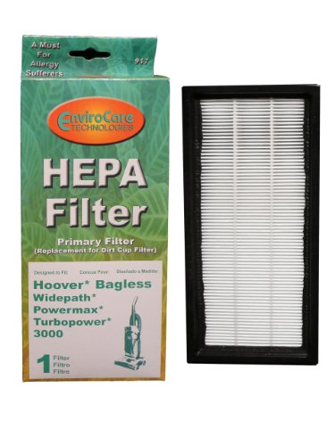 (1) Hoover Powermax Widepath Hepa W/Activated Charcoal Filter, Bagless, Turbopower, Tempo, Sprint, Runabout Upright, Powermax, Windtunnel Vacuum Cleaners, 40110008, 43613026, 43613-026-G front-258424