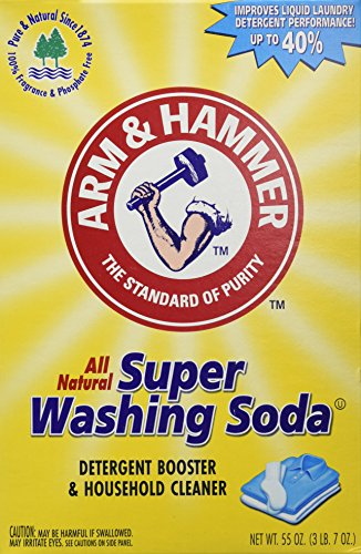 Arm & Hammer Super Washing Soda, 55 oz (Pack of 2) (Blowout Drain Cleaner compare prices)