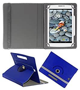 Acm Rotating 360° Leather Flip Case For Swipe Ace Tablet Stand Cover Holder Dark Blue