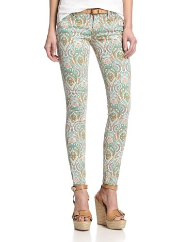 Black Orchid Women's Printed Paisley Jean