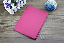 Young-lin(TM) Leather Writing Portfolio Padfolio, Presentation Folder, Business Case with Inserted Note Pad and Folder for Documents (A4 Hot Pink)
