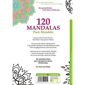 Malbuch für Erwachsene: 120 Mandalas - mit wundervollen Bildern zur Entspannung und