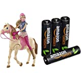 Pack Barbie Hop A Cheval 4 Piles AmazonBasics AAA Rechargeables