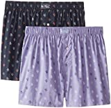 Original Penguin Mens 2-Pack Woven Penguin Boxer Set
