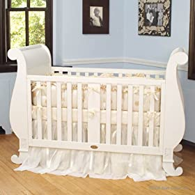 Bratt Decor Chelsea Sleigh Crib Buttermilk