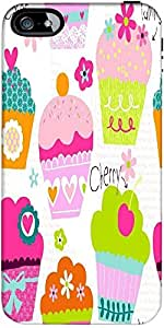 Snoogg Cup Cakes Case Cover For Apple Iphone 5C