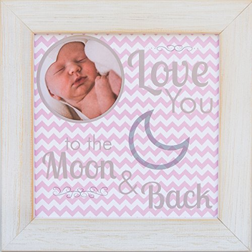 The Grandparent Gift Frame, Baby Girl Moon and Back
