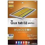 Amazon.co.jpラスタバナナ Qua tab 02 フィルム スーパーさらさら 指紋・反射防止タイプ キュアタブ02 液晶保護フィルム 日本製 R700QUA02