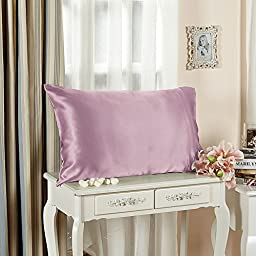 LILYSILK Silk Toddler Pillowcase 19 Momme Pure Mulberry Silk with Cotton Underside 1pc Dirty Pink 13x18 Inch