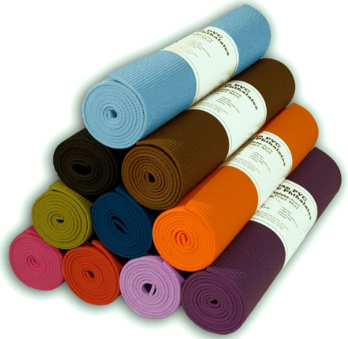 "Yoga Mat 1/4""x72"" Extra Thick 14 Colors Non-Toxic PER Phthalate Free Clean PVC (TM) by Bean Products - Breath Blue"