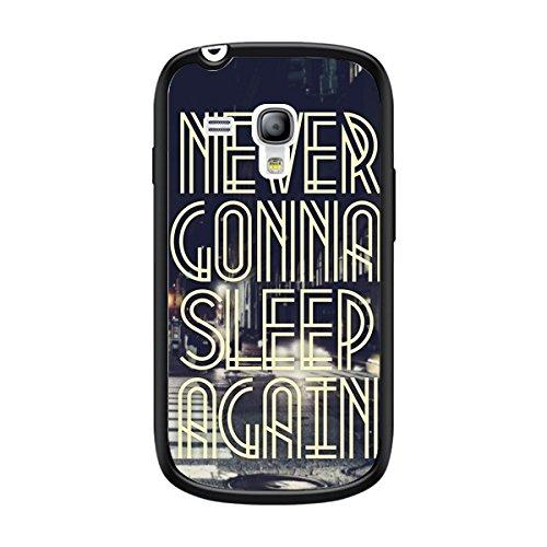 Axs2phone-Cover per iPhone, Never Gonna Sleep New York City, per Samsung Galaxy S3 Mini, di Javier Martinez, bordo colore: nero