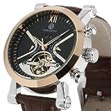 ESS Mens Man Automatic Mechanical Wrist Watch Black Analogue Men Rose Golden Case GIFT WM355