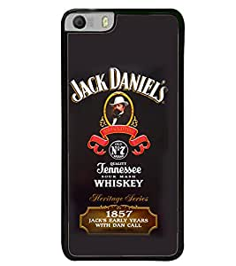 Fuson Premium Jack Daniels Metal Printed with Hard Plastic Back Case Cover for Micromax Canvas Knight 2 E471