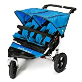 Out n About Nipper Double v4 Stroller Lagoon Blue