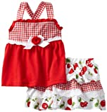 Little Lass Girls 2-6X 2 Piece Scooter Set With Cherry Print