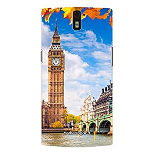 HomeSoGood Big Ben London Multicolor 3D Mobile Case For OnePlus One (Back Cover)