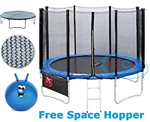 Trampoline With Safety Net Enclosure, Ladder, Rain Cover & Shoe Bag 6ft 8ft 10ft 12ft 14ft (8FT)