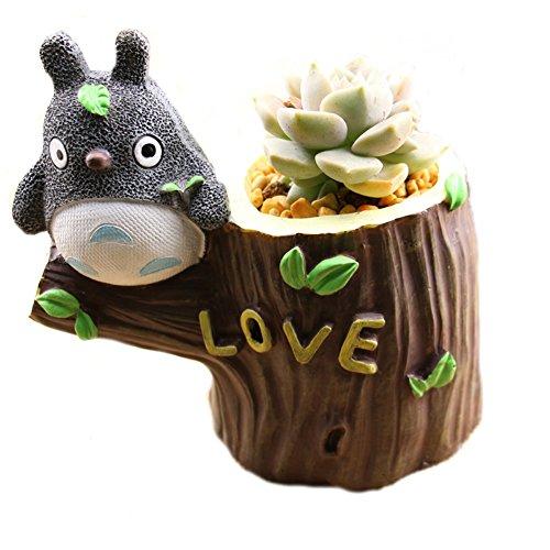 YOURNELO Cute Totoro Resin Flower Plant Pots Succulent Planters Vase