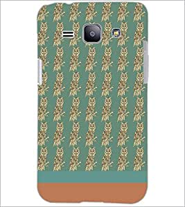 PrintDhaba Owl pattern D-1874 Back Case Cover for SAMSUNG GALAXY J1 (Multi-Coloured)