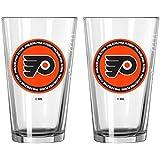 NHL Philadelphia Flyers Ring Of Honor Pint, 16-ounce, 2-Pack