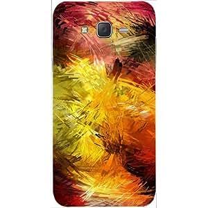 Casotec Creative Line Design Hard Back Case Cover for Samsung Galaxy J2