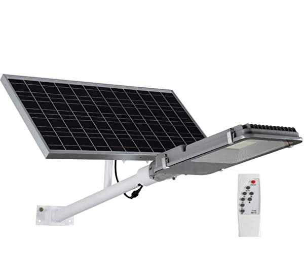 Solar Floodlights,LED Street Light with Remote Control Timing 10w-150w High Brightness Outdoor Waterproof Ip65 Garden Light Extra Long Lighting Time Safety Lamp,50W (Tamaño: 50W)