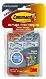 Command Round Cord Clips, Clear, 10-Clip