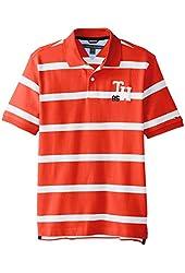 Tommy Hilfiger Big Boys' Short Sleeve Alvin Stripe