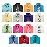 Spring Notion Boys Dress Shirt with Tie Set Size 4-20