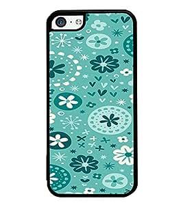 ifasho Designer Phone Back Case Cover Apple iPhone 5c ( Blue Pattern Design )