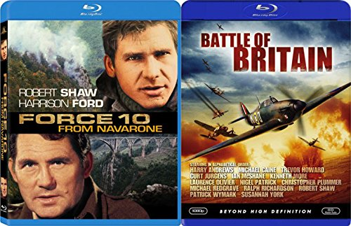 Force 10 From Navarone & Battle of Britain Blu Ray War 2 Pack Military Movie Action Set