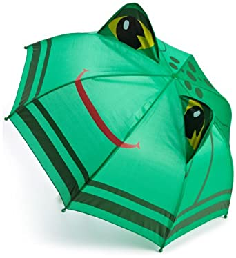 Western Chief Boys 2-7 Frogs Umbrella, Green, One Size