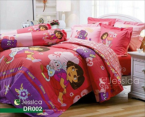 Dora-the-Explorer-Official-Licensed-Bedding-Set-Bed-Sheet-Pillow-Case-Bolster-Case-Not-Included-Comforter-DR002
