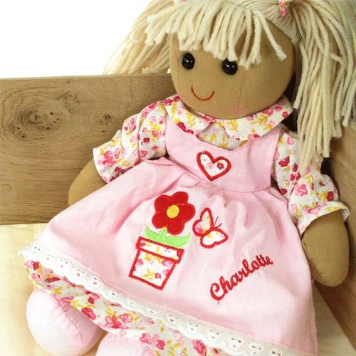 Personalised Girls Christmas Gift Handmade Powell Craft Rag Doll Girls Xmas Doll