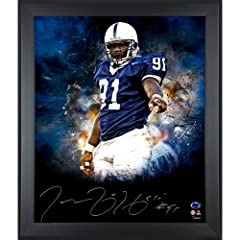 Tamba Hali Penn State Nittany Lions Framed Autographed 20
