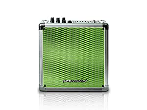 Pure Acoustics Wireless Portable Bluetooth PA Speaker System with Built-in Rechargeable Battery - Includes Wireless Mic MCP-50 Entertainment Medium Sized - Green Grille