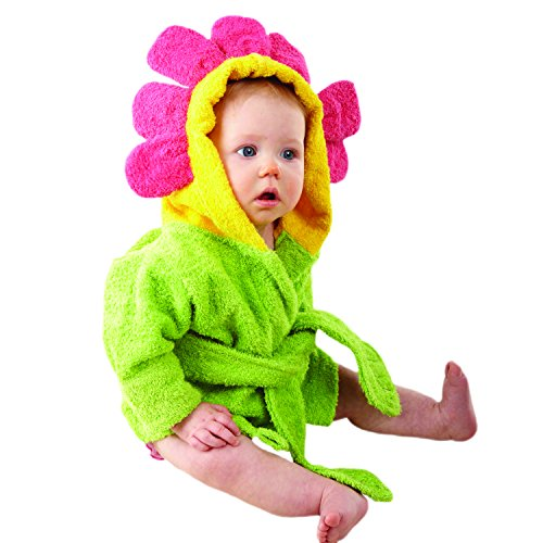 Baby Aspen Hooded Spa Robe, Showers and Flowers