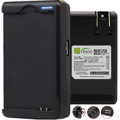 Yesoo Samsung Galaxy Note 1 (N7000, I9220) External Travel Wall Battery Charger With Usb Output And Smart Led Light Indicator (180 Days Warranty)