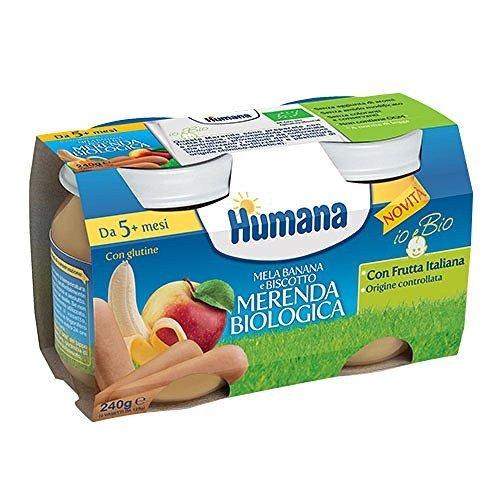 Humana merenda biologica mela banana biscotto