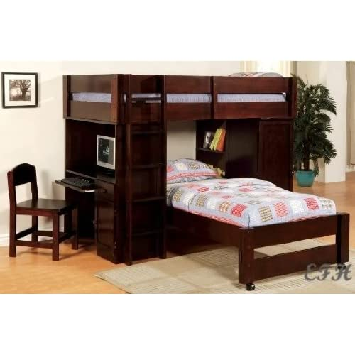 Twin Loft Bunk Bed with Desk 500 x 500